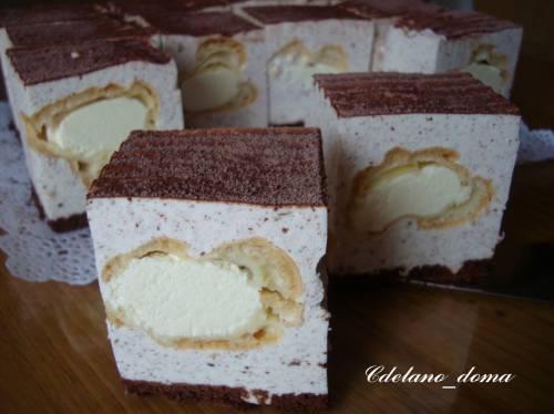 Торт из профитролей рецепт с фото пошагово